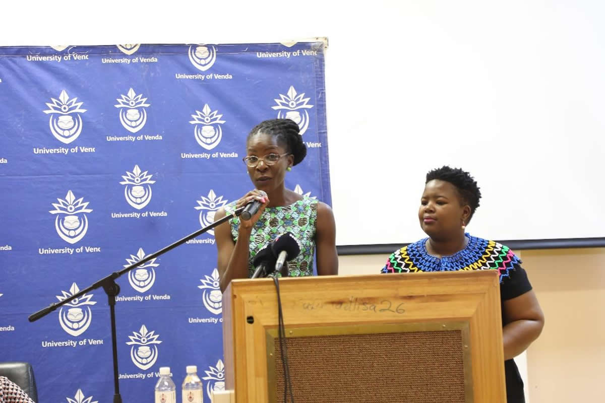 Dr Emma Lubaale (Left) and Ms Zama Mopai (right)
