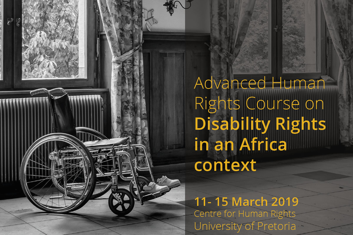 SHORT COURSE ON DISABILITY RIGHTS