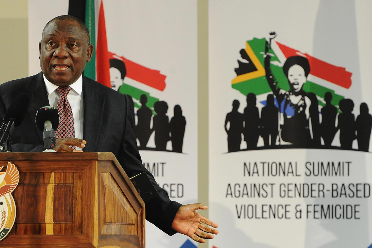 5bf3a5dc95 Civil society organisations working on gender-based violence (GBV) express  concern over the slow pace at which the South African Presidency is  addressing ...