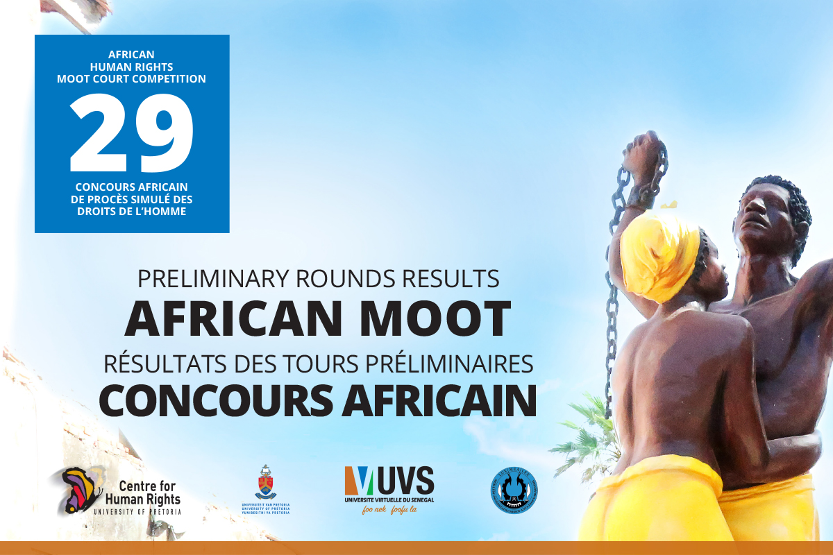 #AfricanMoot2020 Preliminary Rounds Results