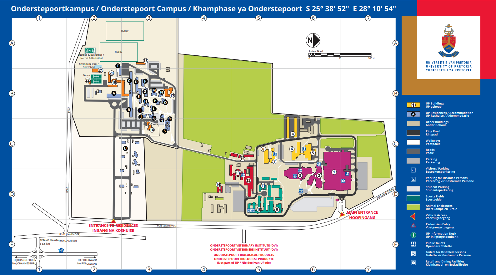 up campus map